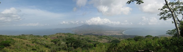 Volcán Concepción, northwestern Ometepe, from Volcán Maderas, southeastern Ometepe, looking across the isthmus
