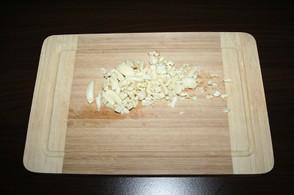 Chop ingredients / start with the garlic