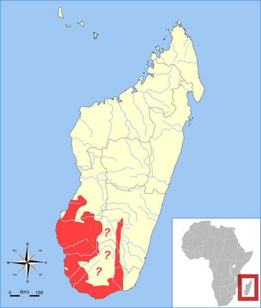 Madagascar range map template