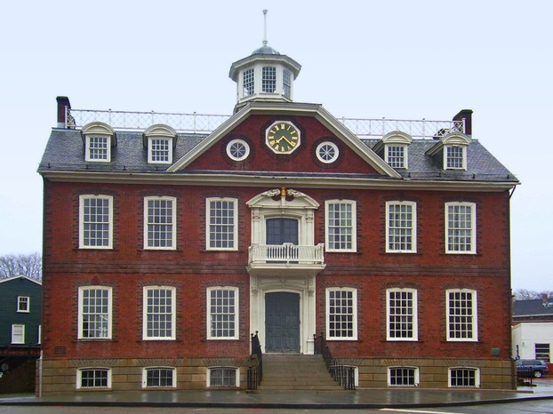Old Colony House, aka Old State House, in Newport, Rhode Island