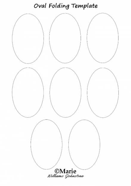 Oval Template for Folded Flower Designs