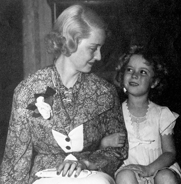 Bette Davis and Shirley Temple