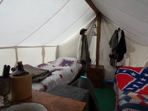 Inside a Civil War Tent