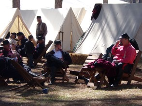 Union Soldiers at the Olustee Reenactment