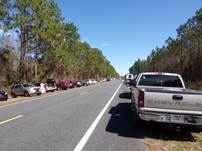 Parking on U.S. Highway 90 at Olustee Battlefield