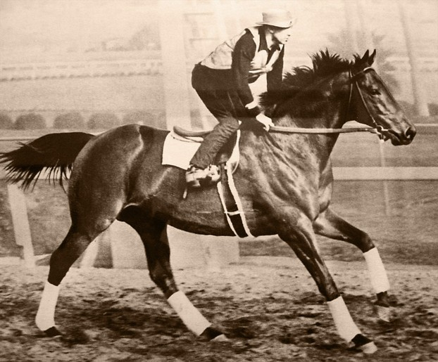 George Woolf with Seabiscuit
