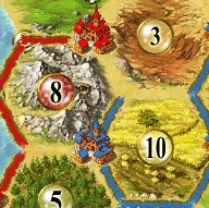 Cities in Settlers of Catan