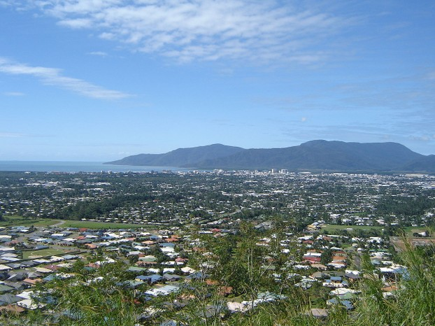 View of Cairns from Lake Morris with the Yarrabah peninsula in the background.