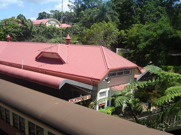 Kuranda Railway Station with Kuranda Scenic Railway