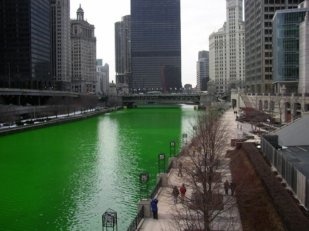 Chicago River On St. Patrick's Day