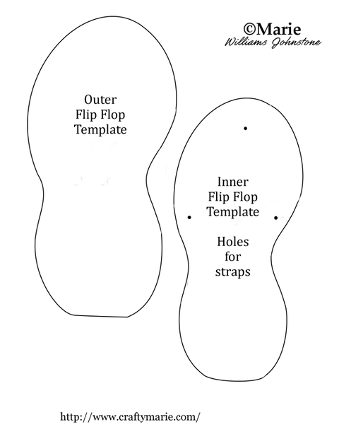 3a6b2d879b1d71 Free Flip Flop Door Hanger Pattern and Tutorial
