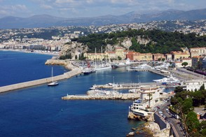 View of the French Riviera
