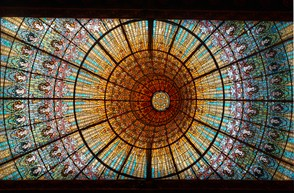Stained Glass at the Palau de la Musica Catalana