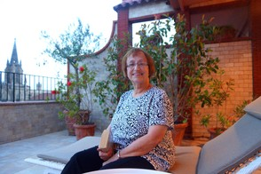 Mom on the Hotel Colon Terrace