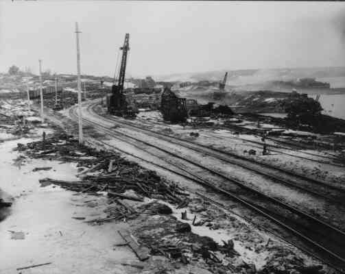 Image: Pier 6 after the Halifax Explosion