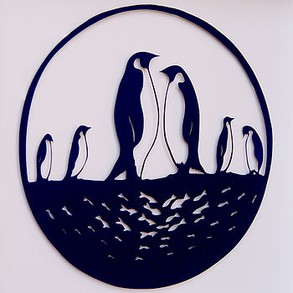 Penguin Papercut Art