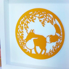 Papercut Fox Artwork