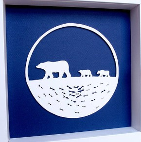 Polar Bear Papercut