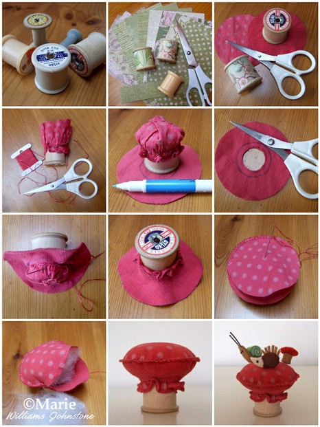 How to Sew a Mushroom Toadstool Thread Spool