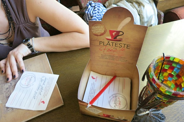 World Poetry Day at a Julius Meinl café