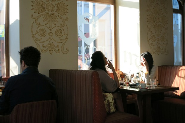 Julius Meinl café in downtown Bucharest
