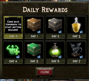DOTD Daily Rewards
