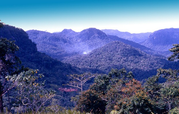 View of the Owen Stanley Ranges from Ower's Corner, 31 miles (50 km) east of Port Moresby, southeastern Papua New Guinea