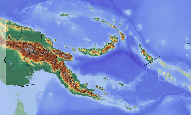 Location map of Papua New Guinea
