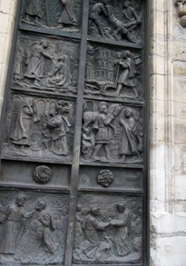 Door of the old Church of St Pierre