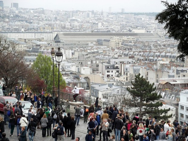 View over part of Paris from Sacre-Coeur