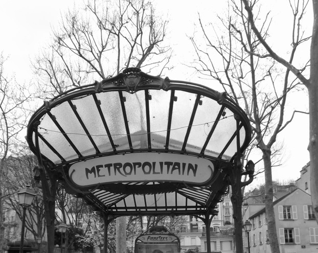 Art Nouveau Metro Entrance Sign