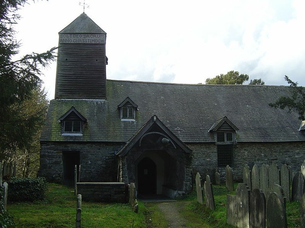 Image: St Tydecho's Church in Mallwyd (14th century, replacing original 6th century)