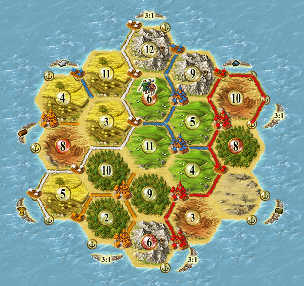 Image: Longest Road in Settlers of Catan