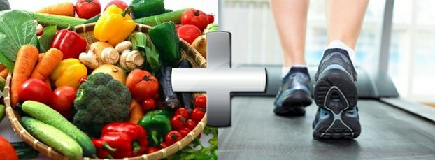 Healthy diet and exercise to lower cholesterol