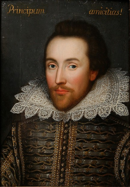 Cobbe portrait, assumed to be William Shakespeare, c. 1595 - 1610 painting on oak panel