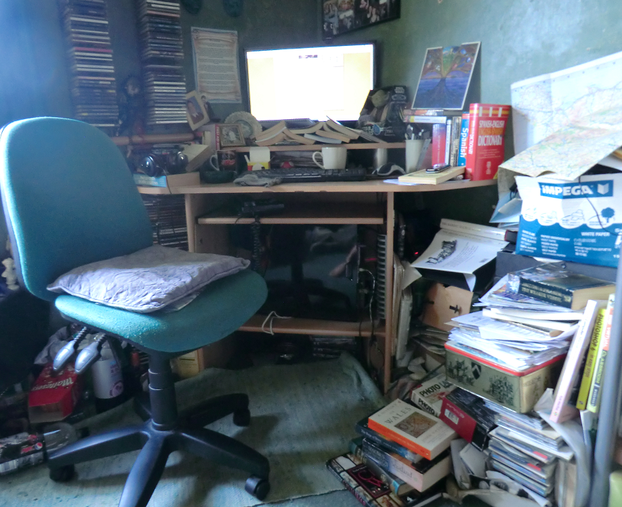 Image: Jo Harrington's desk and research/writing area.