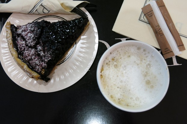 Cappuccino and Blueberry Pie