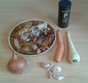 The Ingredients for Making Chicken Stock