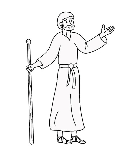 Bible Character Coloring Pages