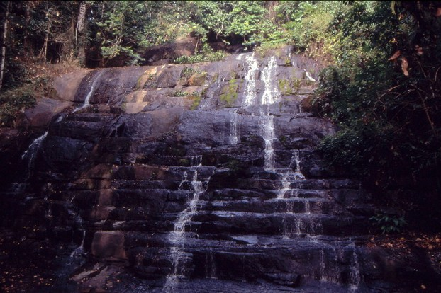 "Waterfall ""La Cascade"" near Man, Ivory Coast during the dry season"