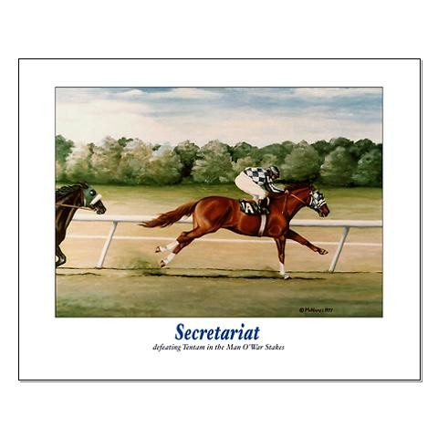 Secretariat poster by Terry McNamee
