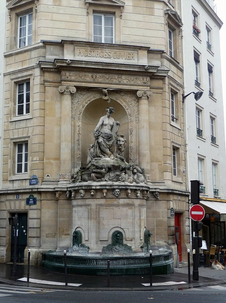 Fontaine Cuvier (Cuvier Fountain): intersection of rue Linné and 20 rue Cuvier, facing Jardin des plantes de Paris,  5e