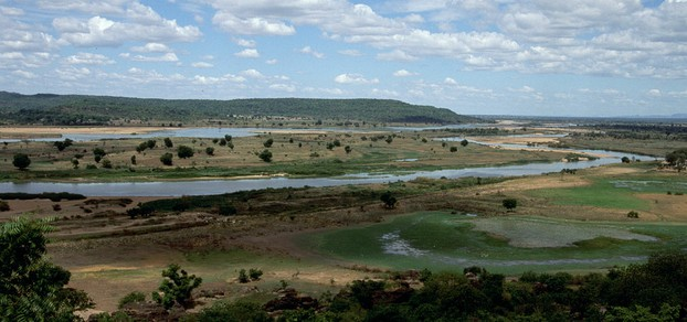 view of Benué River (French: la Bénoué) from Yola, Adamawa State, northeastern Nigeria