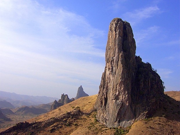 Kapsiki Peak, volcanic plug rising 4,016 feet (1,224 meters) in Mandara Mountains in Cameroon's Far North Province