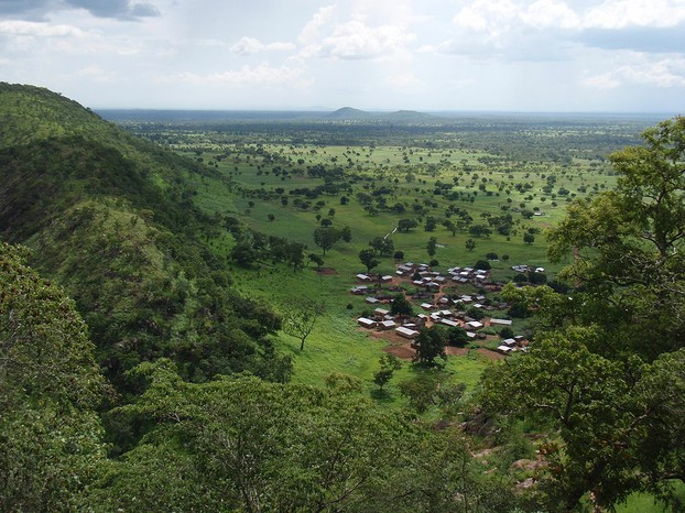 Atakora Mountains, northwestern Benin, close to entrance in Batia to Pendjari National Park