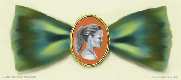 Cameo Bow Portrait Painting
