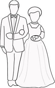 Wedding Couple Coloring Page