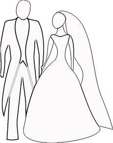 Wedding Couple Coloring Sheet
