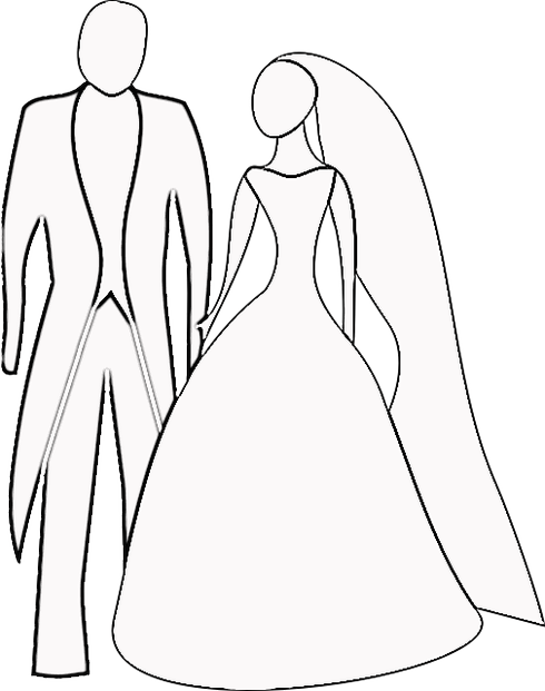 coloring pages of wedding bells - photo#13