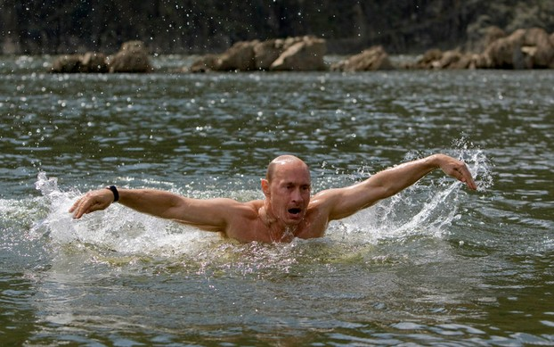 Putin loves to portray himself as macho.